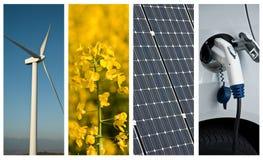 Коллаж устойчивого и сбалансированного развития Стоковое фото RF