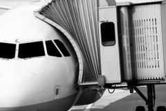 飞机正面图 免版税库存照片