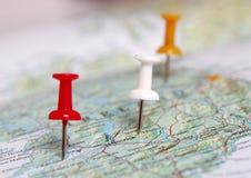 打开地图 免版税库存图片