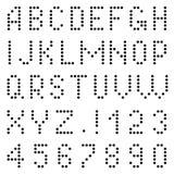 Επιστολές και αριθμοί εικονοκυττάρων Στοκ φωτογραφία με δικαίωμα ελεύθερης χρήσης