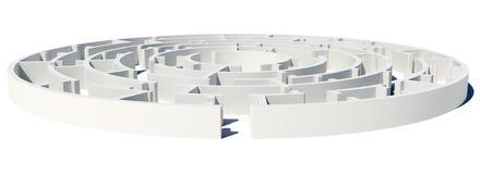 Η κλειστή πλάγια όψη του λαβυρίνθου με εισάγεται Στοκ φωτογραφία με δικαίωμα ελεύθερης χρήσης