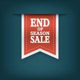季节销售丝带元素的末端 销售额 免版税库存照片