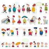 Μέγα συλλογή των χαρακτηρών κινουμένων σχεδίων Στοκ εικόνα με δικαίωμα ελεύθερης χρήσης