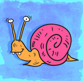 动画片蜗牛例证,传染媒介象 库存图片