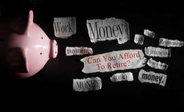Сбережения выхода на пенсию Стоковое фото RF