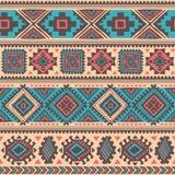 Племенная мексиканская винтажная этническая безшовная картина Стоковые Изображения RF