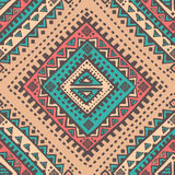 Племенная мексиканская винтажная этническая безшовная картина Стоковое Фото