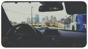 街市驾驶的生活 库存图片