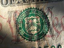 Σύμβολο συστημάτων Ηνωμένης Κεντρικής Τράπεζας των ΗΠΑ Στοκ Εικόνα