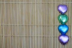 Μορφή καρδιών σοκολάτας Στοκ εικόνα με δικαίωμα ελεύθερης χρήσης