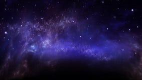Έναστρος ουρανός στον ανοιχτό χώρο Στοκ Εικόνες
