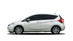 Белый малый автомобиль Стоковые Изображения RF