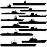 航空母舰 免版税库存图片