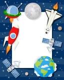 火箭队梭卫星垂直框架 图库摄影