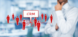 客户关系管理和顾客 库存照片