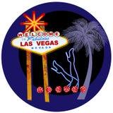 Знак Вегас и ноги танцоров в неоне Стоковое Фото