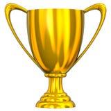 золотистый трофей Стоковая Фотография