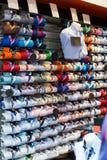 与棉布衬衣的时兴的服装店 库存照片