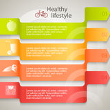 Υγιής-τρόπος ζωής-φυλλάδιο-οργανικός-τρόφιμο-πρότυπο Στοκ Φωτογραφίες