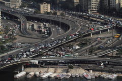 交叉点在开罗 库存图片