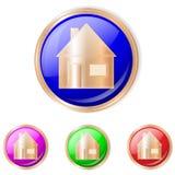 家庭球形象 向量按钮 免版税图库摄影