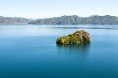 泸沽湖在云南中国 免版税图库摄影