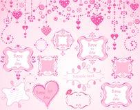 Милые розовые рамки Стоковые Фото