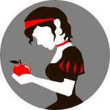 白雪公主和苹果 库存图片