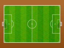 足球沥青顶视图  免版税库存图片