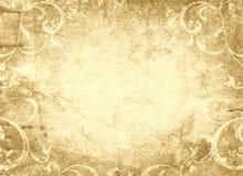 设计花卉脏的老羊皮纸 库存图片