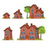 Σπίτια κινούμενων σχεδίων Στοκ Εικόνα