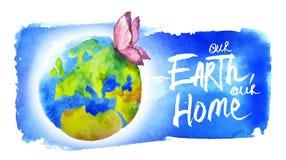 世界地球日的横幅 免版税库存照片