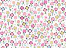 传染媒介无缝的五颜六色的花卉样式 库存照片