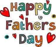 Счастливый текст дня отцов Стоковое Фото