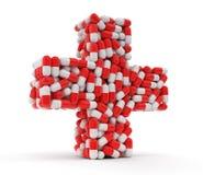 从药片的十字架 免版税库存照片