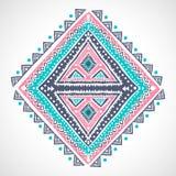 Мексиканский племенного вектора этнический, африканский орнамент Стоковое Изображение RF