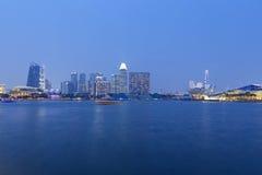 全景新加坡地平线 图库摄影