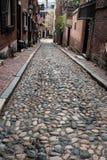 波士顿鹅卵石街道  免版税库存图片
