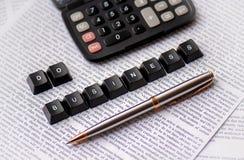 做生意,计算您的金钱 免版税图库摄影