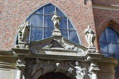德国教会的片段在斯德哥尔摩 免版税库存图片