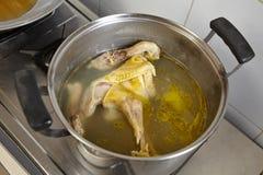 Κοτόπουλο και σούπα Στοκ Εικόνα