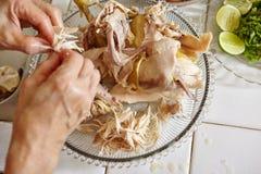 κοτόπουλο που τεμαχίζεται Στοκ φωτογραφία με δικαίωμα ελεύθερης χρήσης