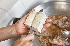 Добавлять тофу Стоковые Изображения