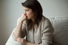 Меланхоличные женщины Стоковая Фотография RF