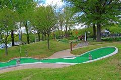 微型高尔夫球领域 免版税图库摄影