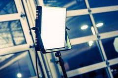 电视录象制作照明设备盘区 库存图片