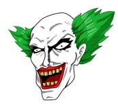 邪恶的小丑头 免版税库存图片