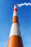 热电站的烟囱 免版税库存照片
