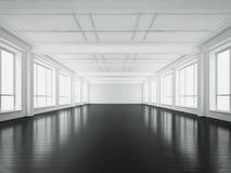 Άσπρο εσωτερικό γραφείων τρισδιάστατη απόδοση Στοκ Εικόνα