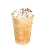 奶油色杯子冰奶蛋烘饼 免版税库存照片